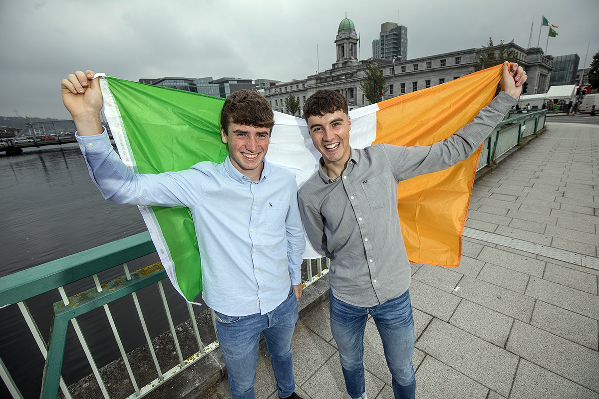 Ireland's Cormac Harris and Alan O'Sullivan take home the top prize at the 32nd European Union Contest for Young Scientists